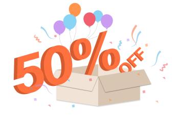 50%off 2